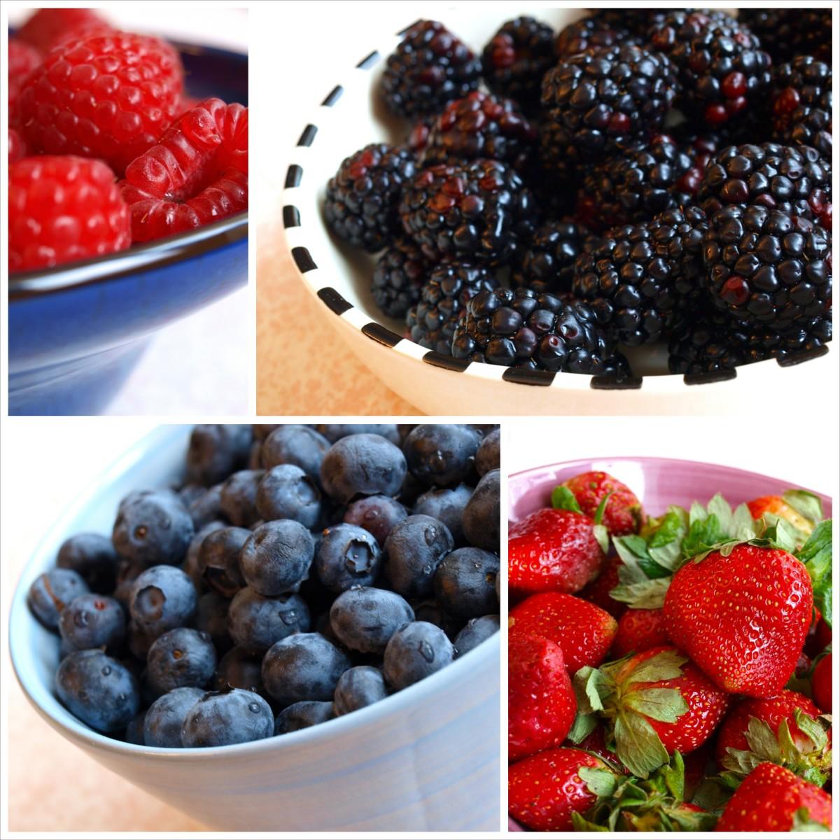 Raspberries, blackberries, blueberries and strawberries are all wonderful options.
