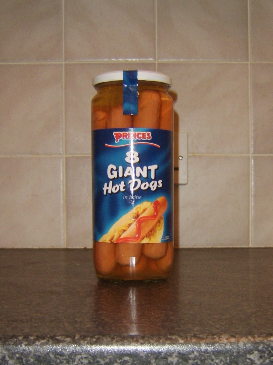 A glass jar of hot dogs can be stored as is in the fridge