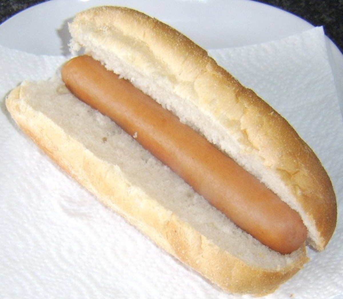 Hot dog on sub roll