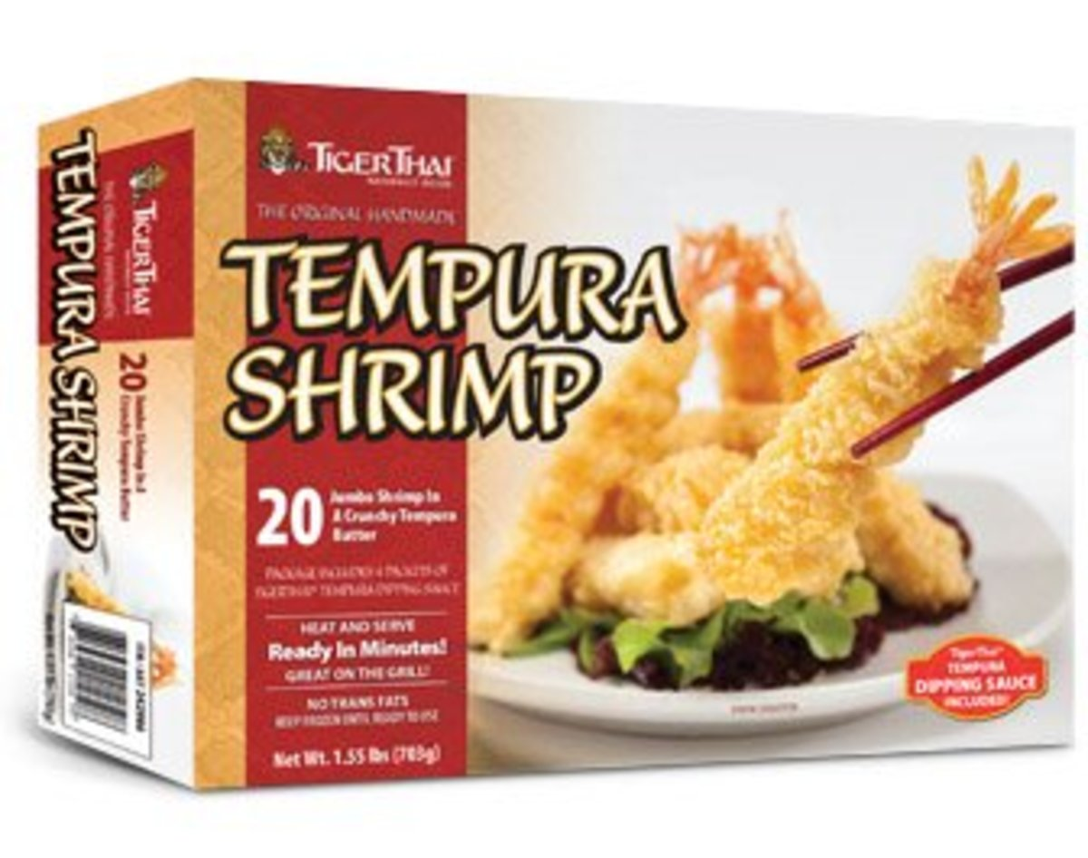 This is the easiest and best brand of frozen shrimp tempura I've found. 20 minutes in the oven and you've got shrimp just like in a Japanese restaurant. Excellent for 2 or 3 people.