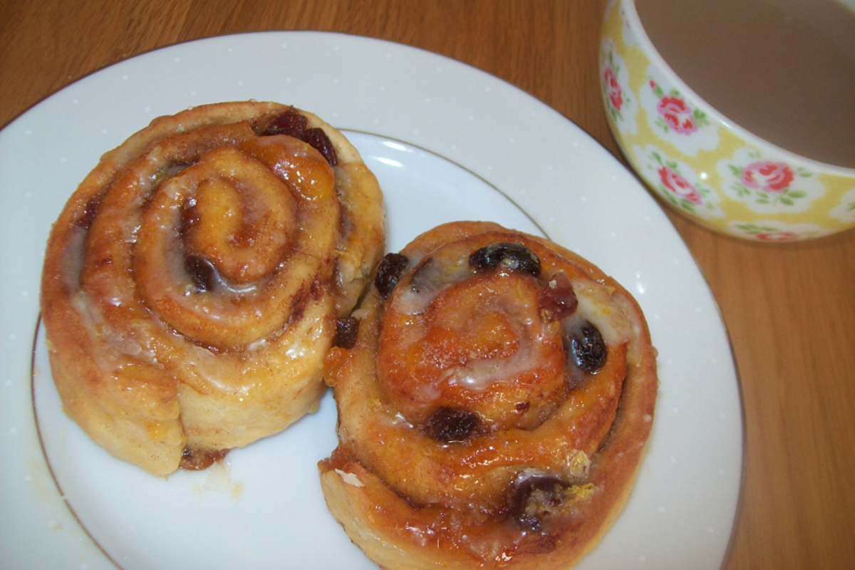 Deluxe Chelsea buns recipe served with coffee.