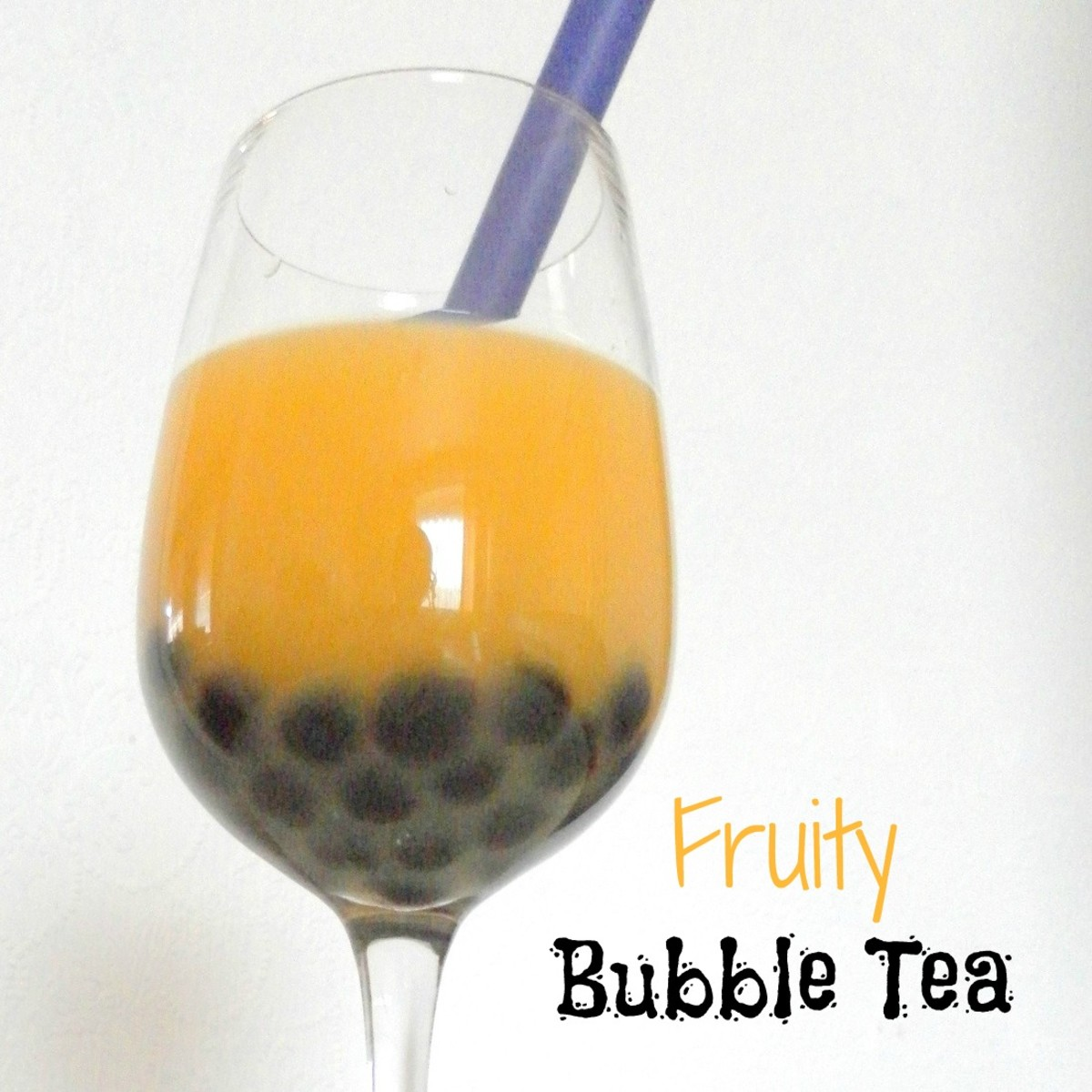 It's easy to make a deliciously fruity bubble tea!