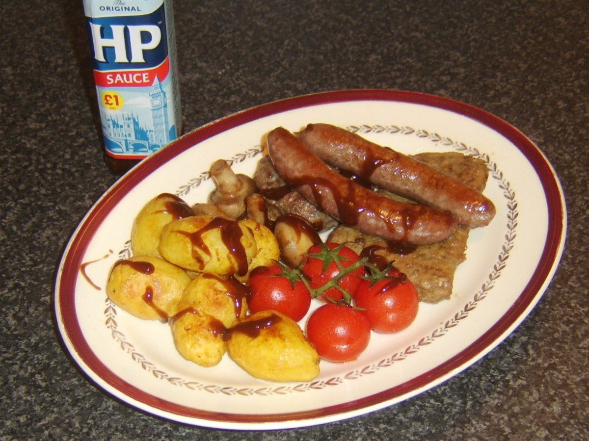 HP Sauce is an optional but delicious addition to any fry up