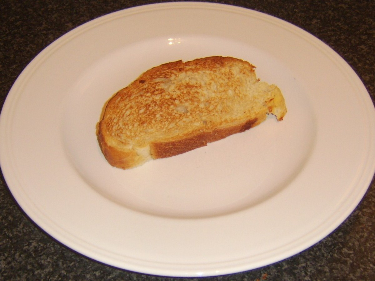 Toast is laid on a serving plate