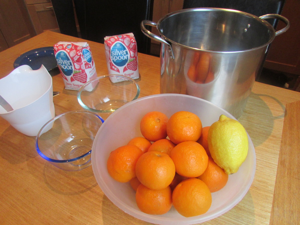 Ingredients for Seville orange marmalade