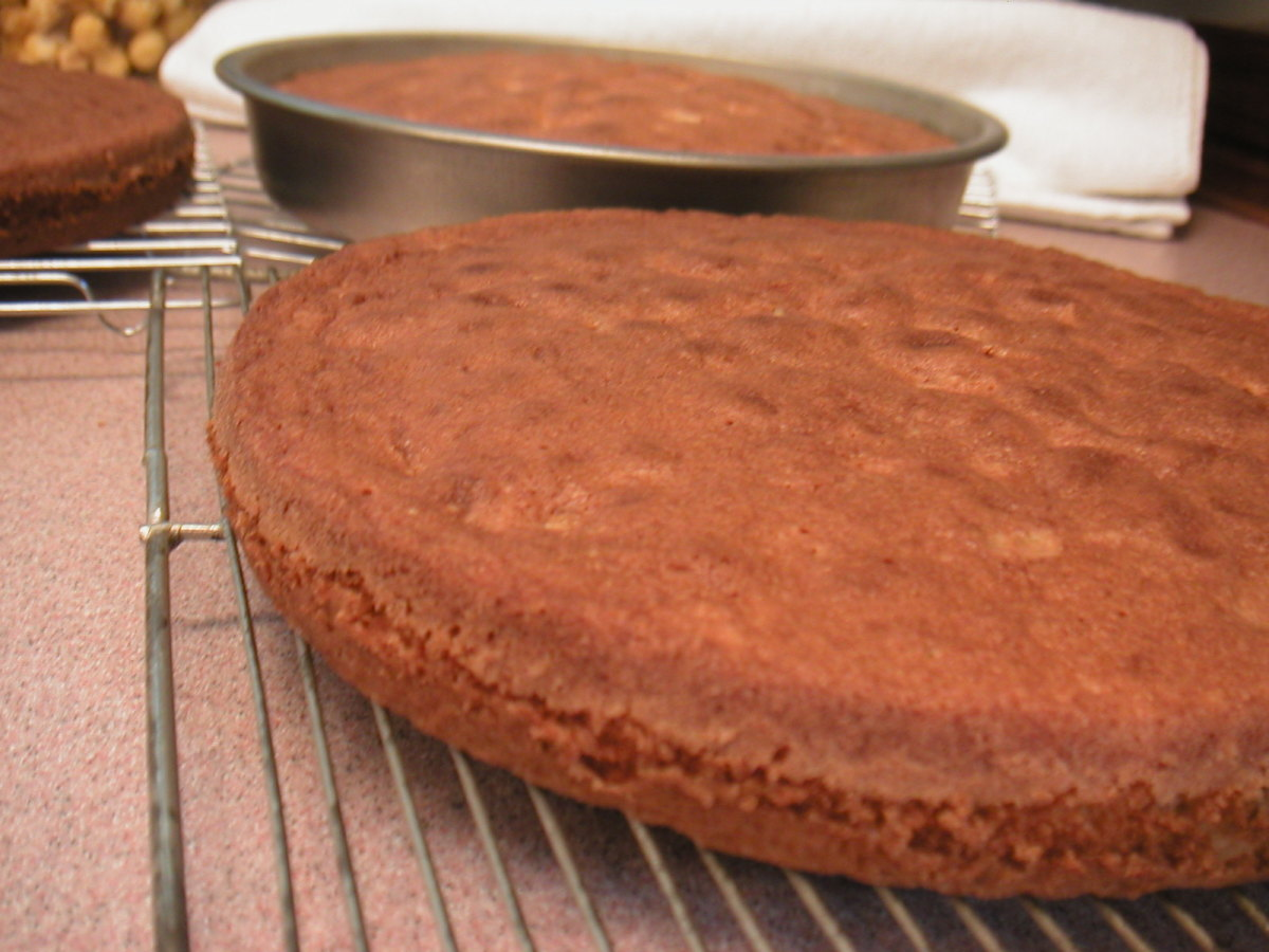 Taking the cakes out of the pan can be daunting. There is a simple way to do this using waxed paper and a plate.