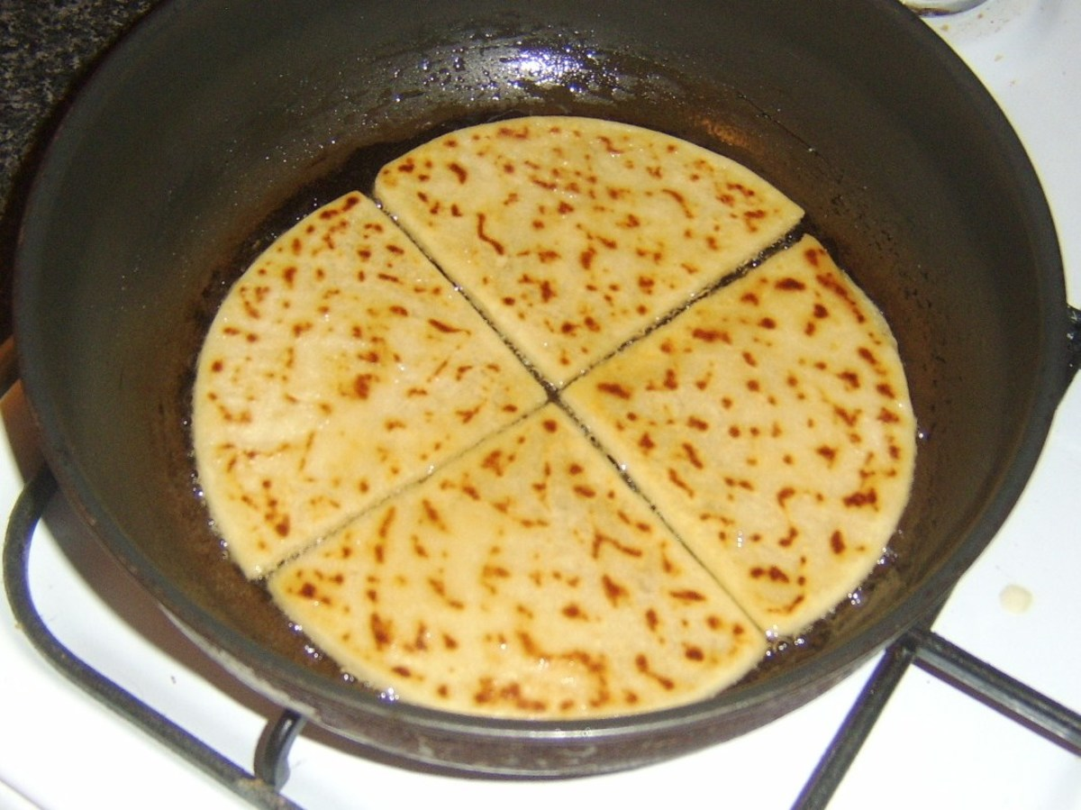 Frying tattie scones