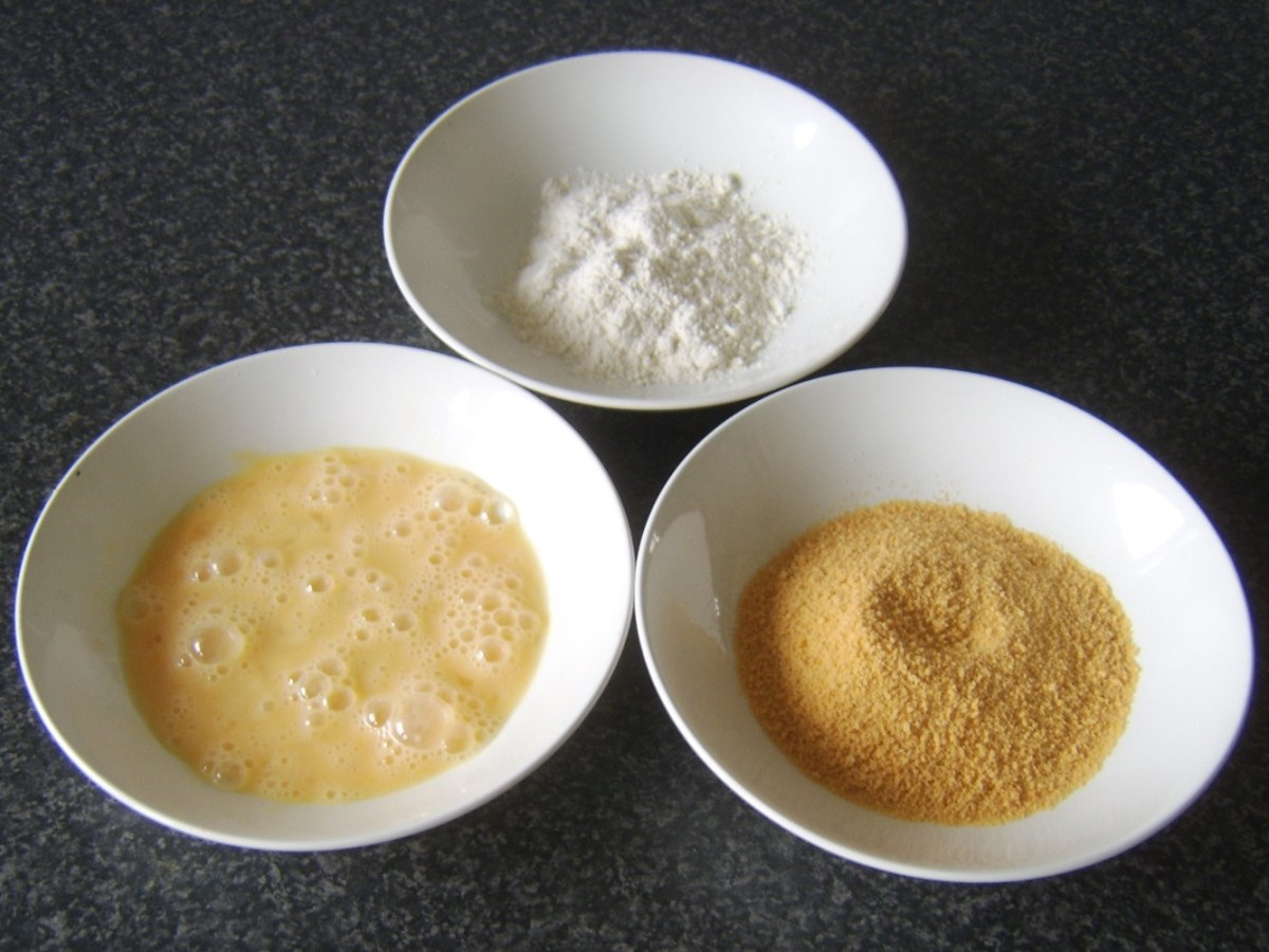 Croquette breading ingredients