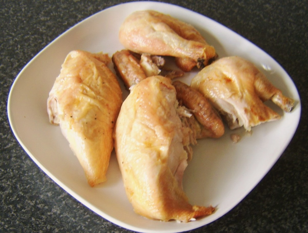 Roast chicken portions