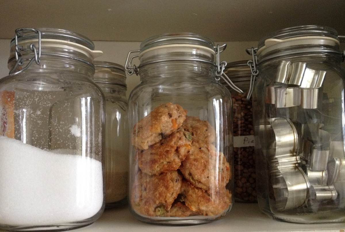 We store all kinds of things in our jars, including sea salt, homemade scones, and even my cookie cutter collection!