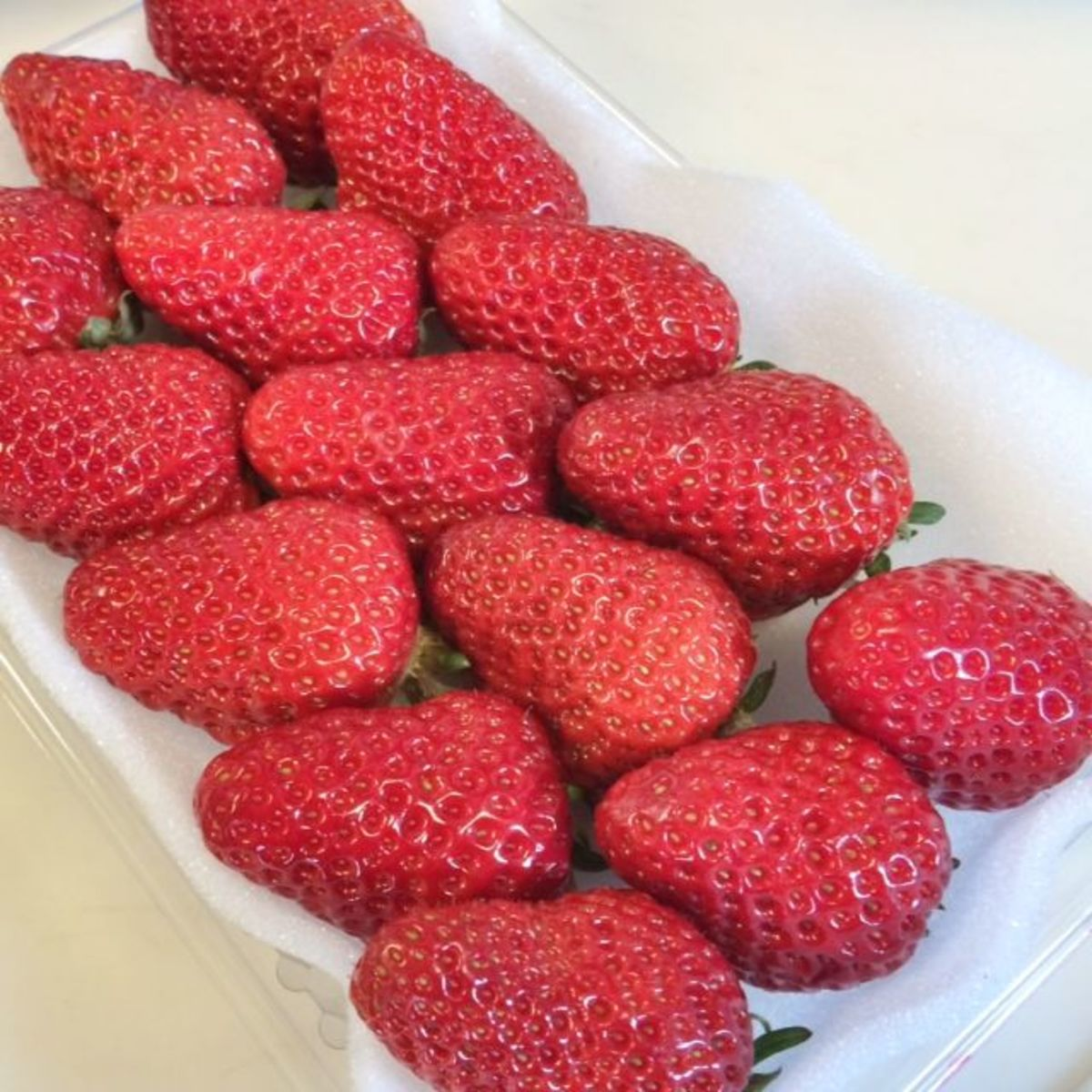 Fresh strawberries are perfect to accompany the cake.