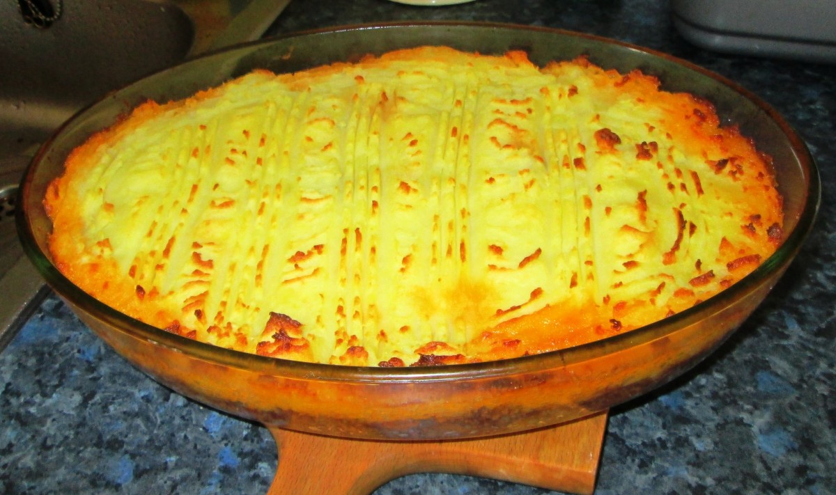 My Homemade Cottage Pie topped with Golden Brown Mashed Potatoes
