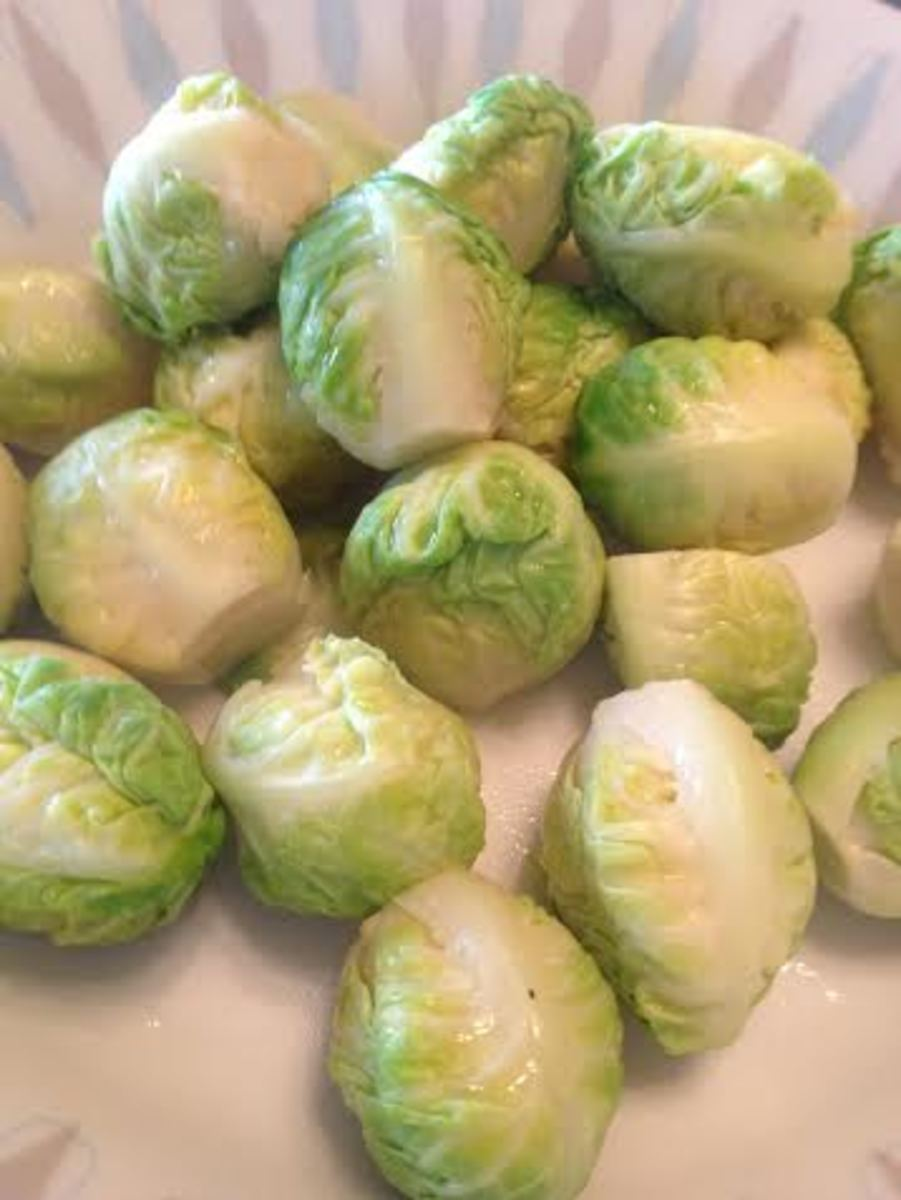 Remove the sprouts from the pan into a bowl or onto a plate.  Season to taste and enjoy!