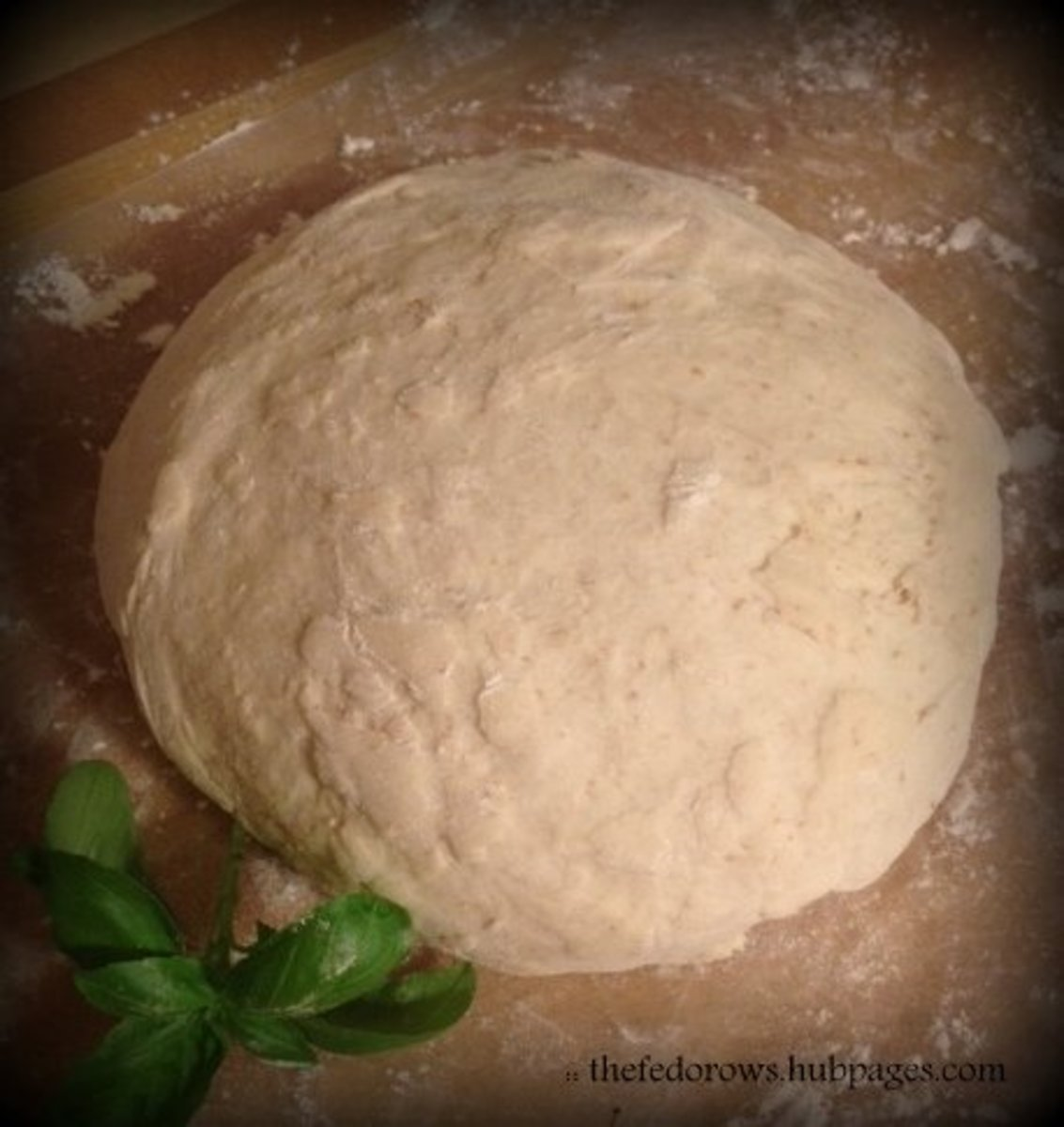 Lovely bread-maker pizza dough ready to be shaped.