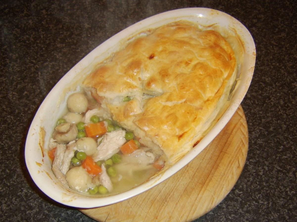 Chicken and mushroom is an incredibly simple yet delicious pie combination and just one of the many endless possibilities
