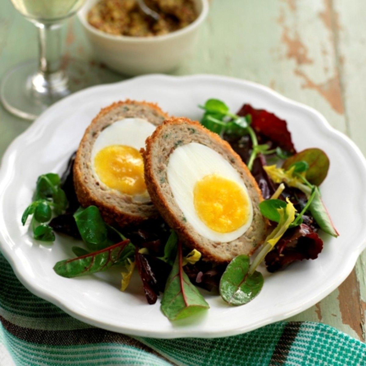 Inside Scotch egg