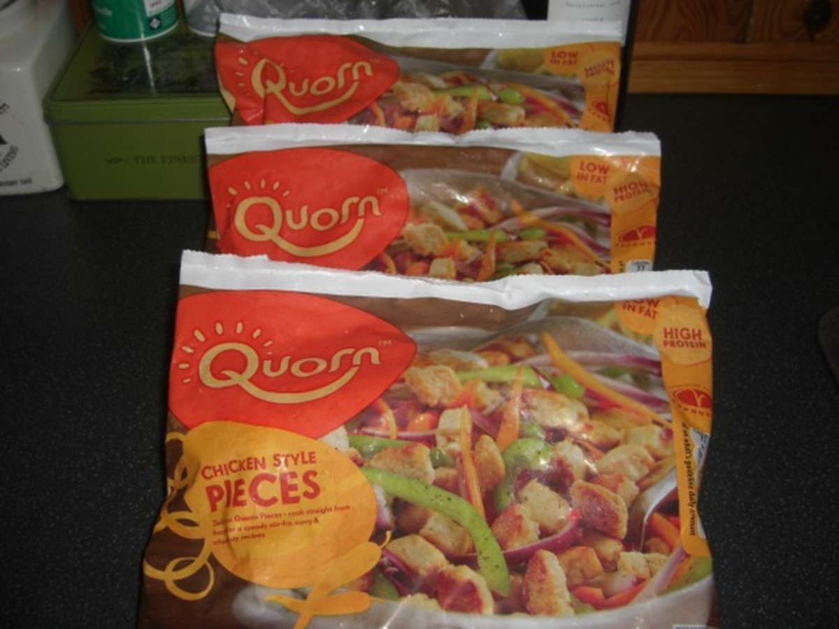 Quorn chicken-style pieces.