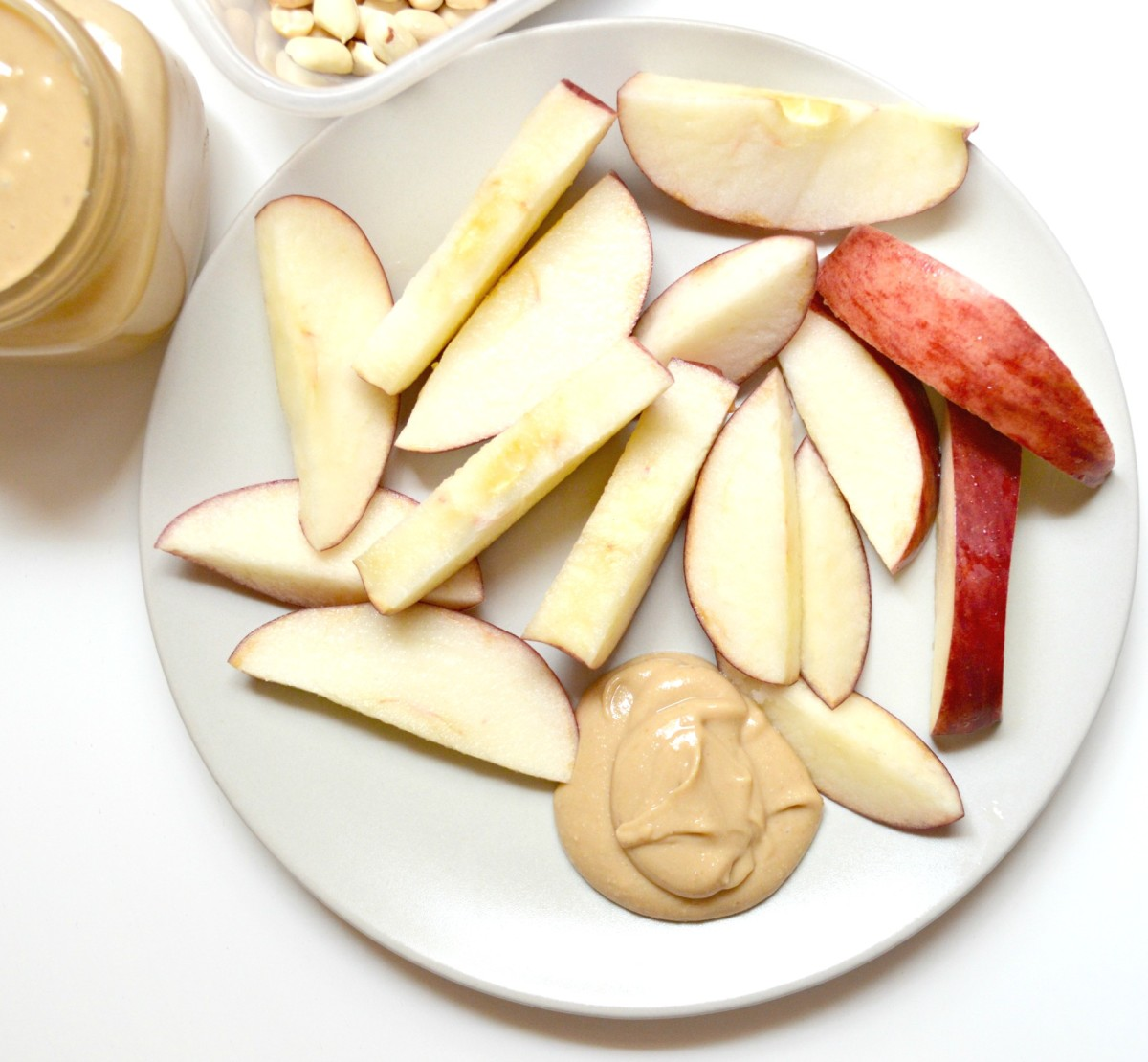 Peanut butter and apples?! My favorite healthy snack!