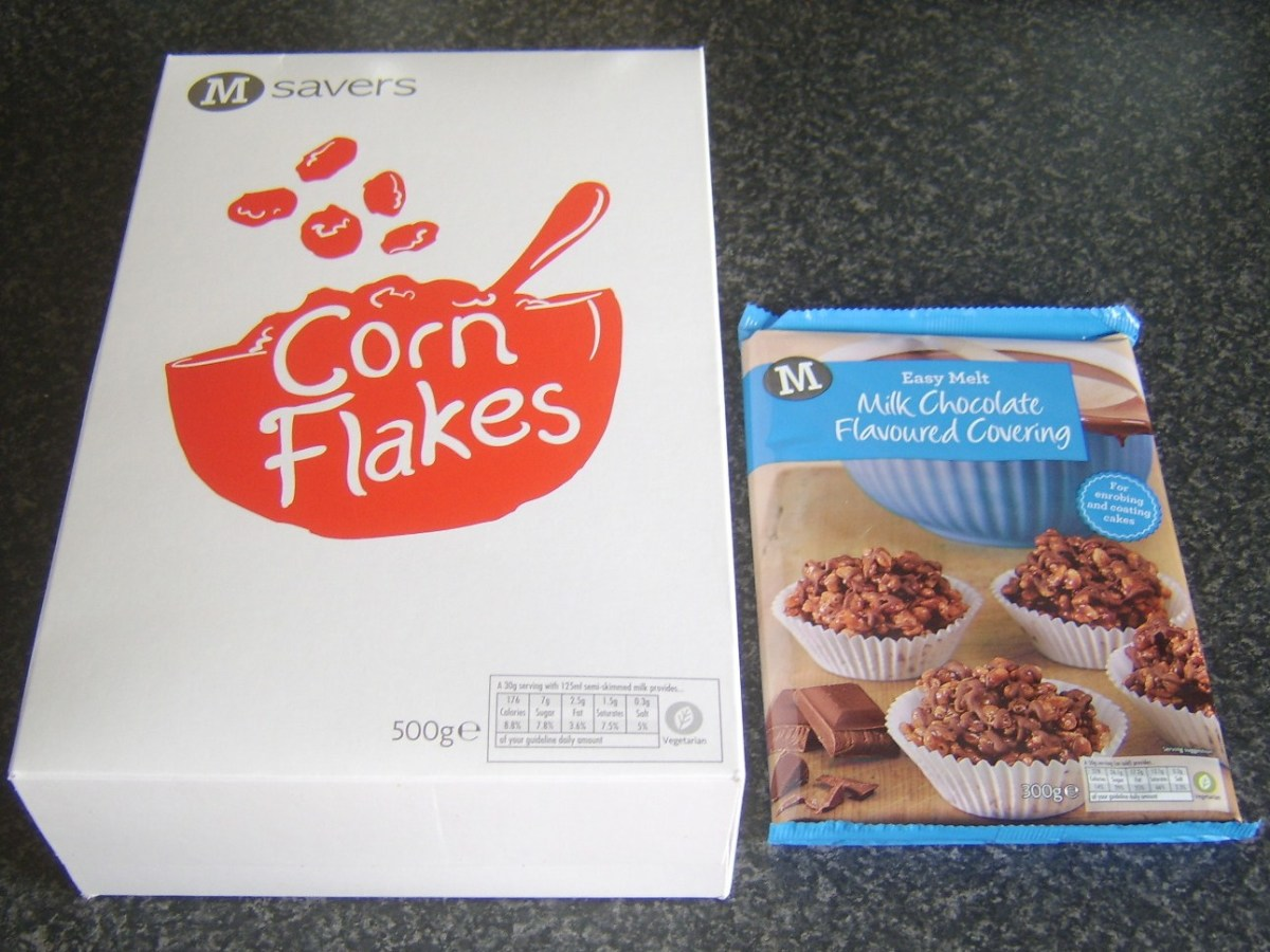 Budget corn flakes and chocolate flavoured coating