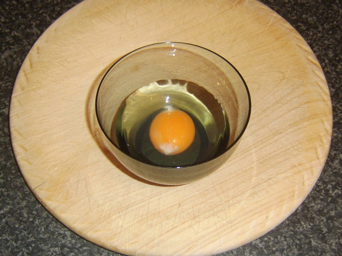 Egg is broken firstly in to small bowl or cup