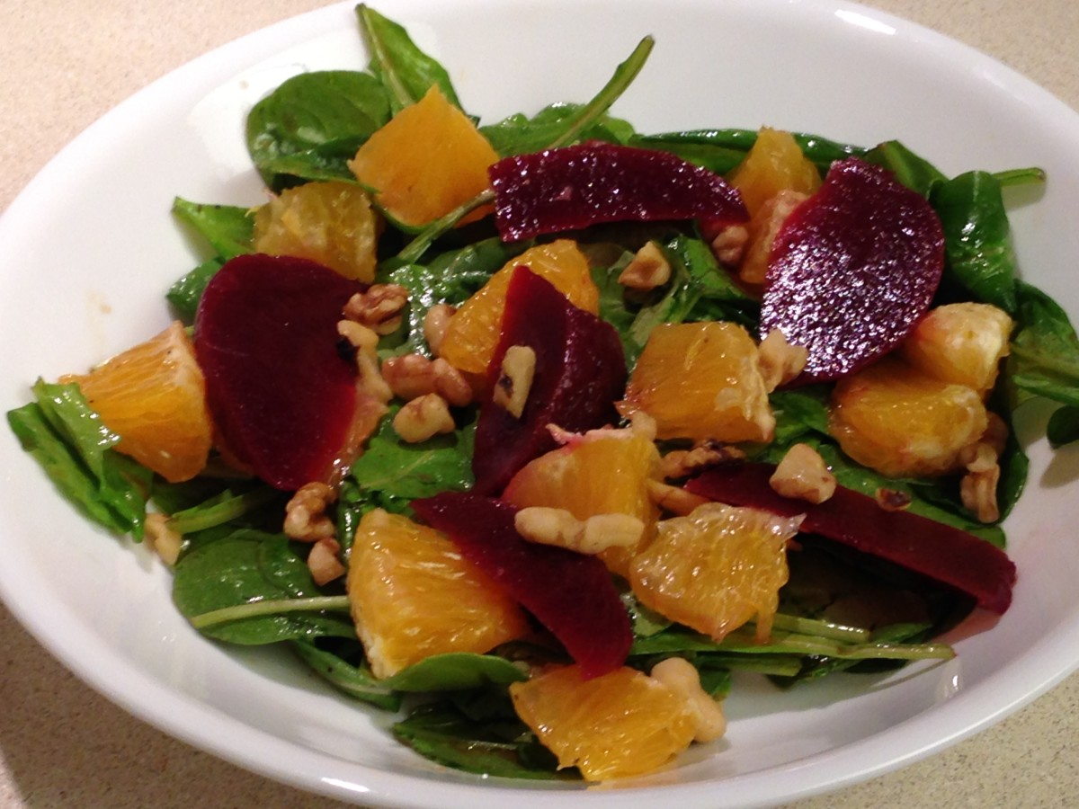 Arugula Salad with beets and orange