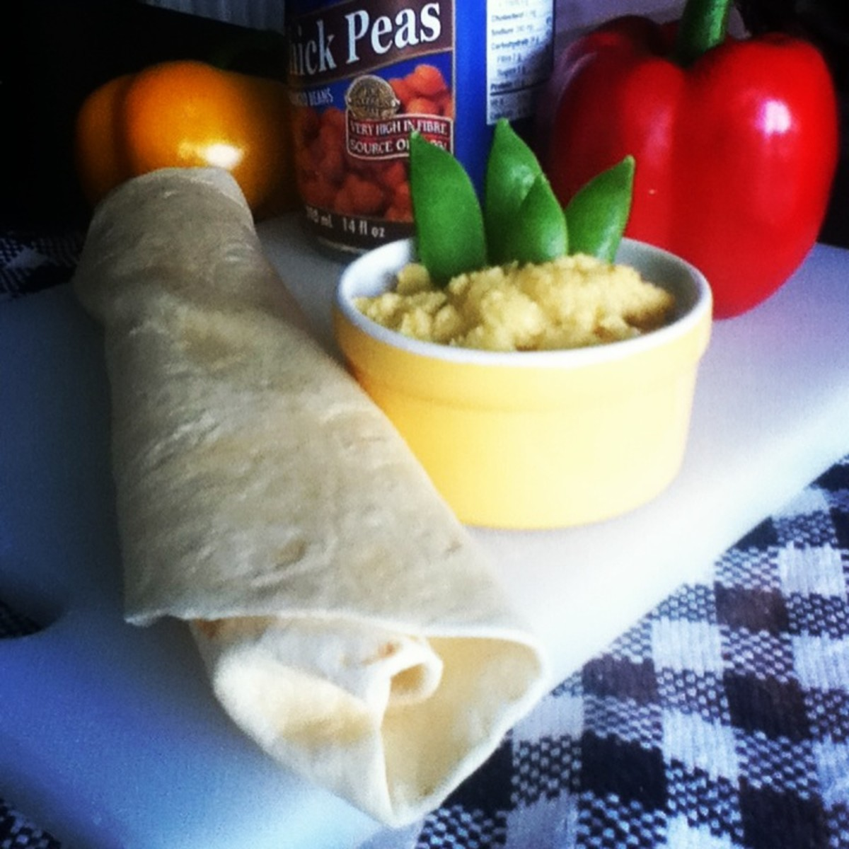 This healthy hummus recipe is quick and easy to make. Serve it as veggie or chip dip. Spread it on pita, tortillas, or sandwiches.