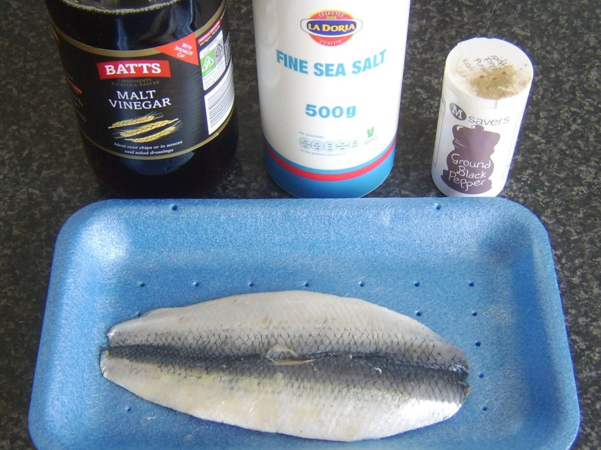 Herring poaching ingredients