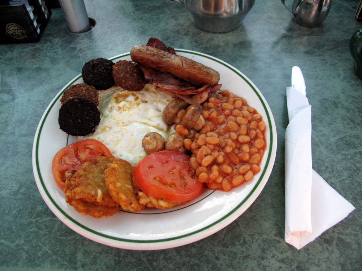 Full English Breakfast at Shakespeare's English Pub