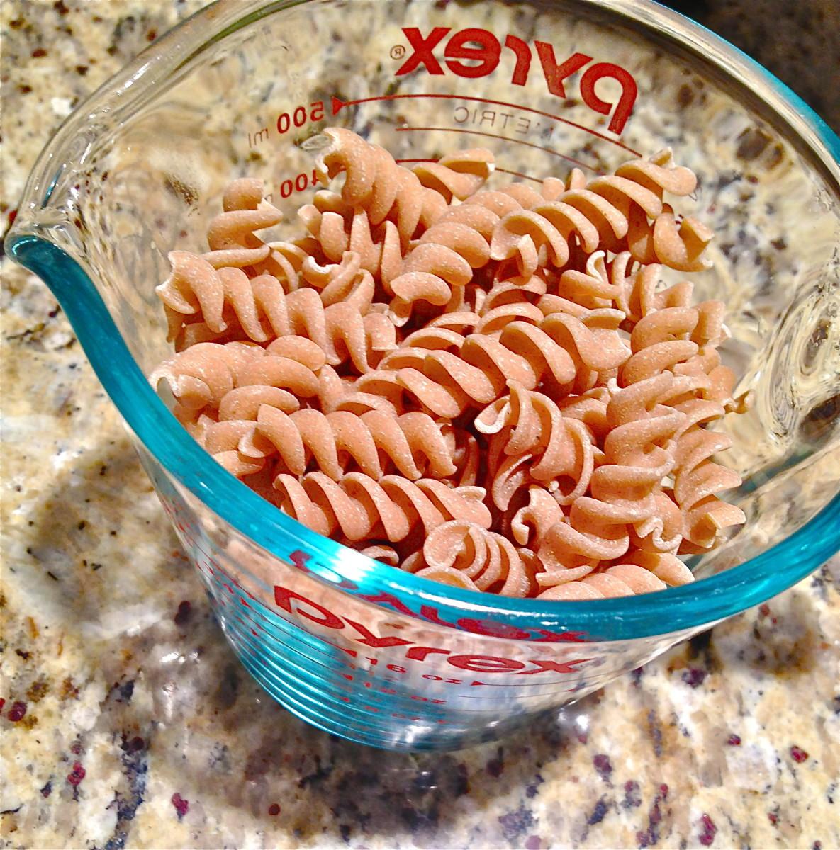 Add whole wheat pasta.