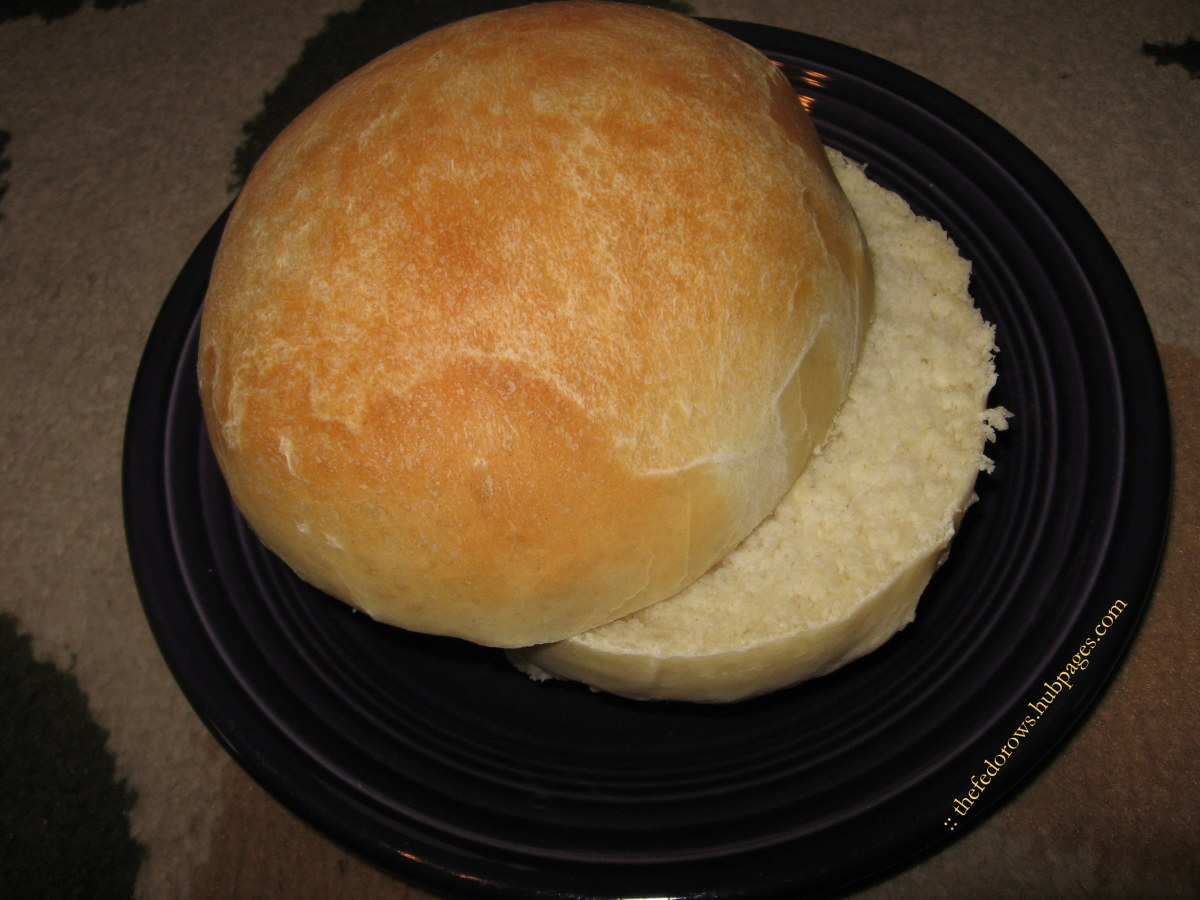 Finished Bun Ready to Serve: Homemade hamburger buns are sturdy, easy to make, and taste delicious!