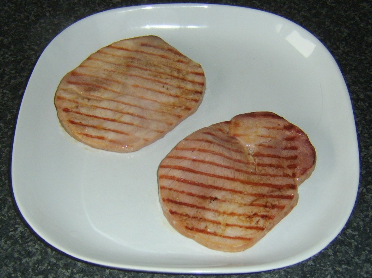 Griddled gammon steaks
