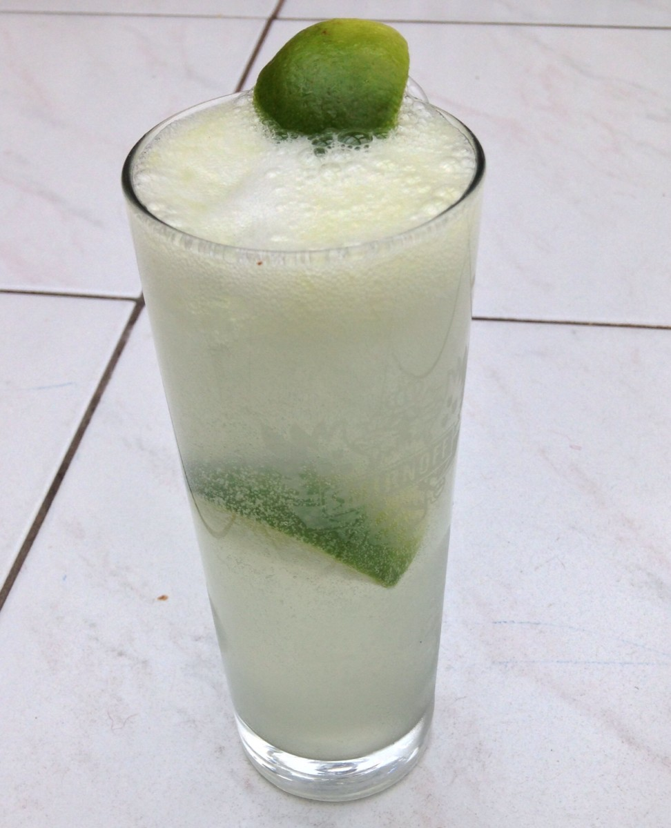 Vodka, Fresh Lime and Soda