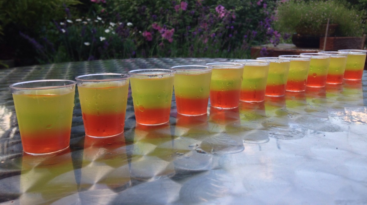 Tri Color/Layered Vodka Jellies