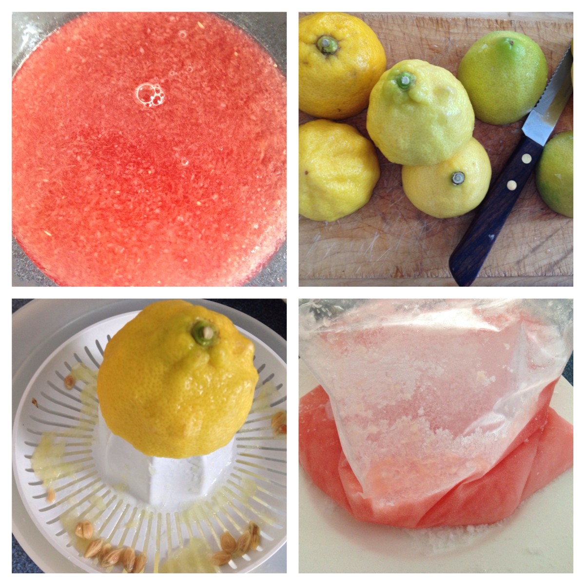 Stages of Summer Slush and Frozen Mixture