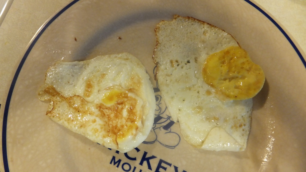 The farm fresh egg yolk did not break.  The supermarket egg broke and ran a little.