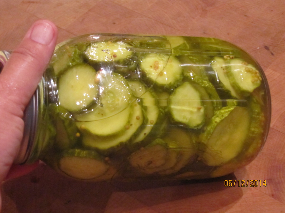 Sweet Bread and Butter Pickles - by Thanksgiving they will be at their peak flavor. Serve them with pickled okra or other condiments.