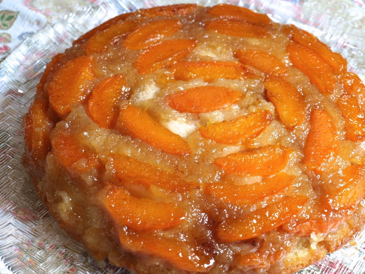 This is the apricot almond upside down cake, and is oh so good.