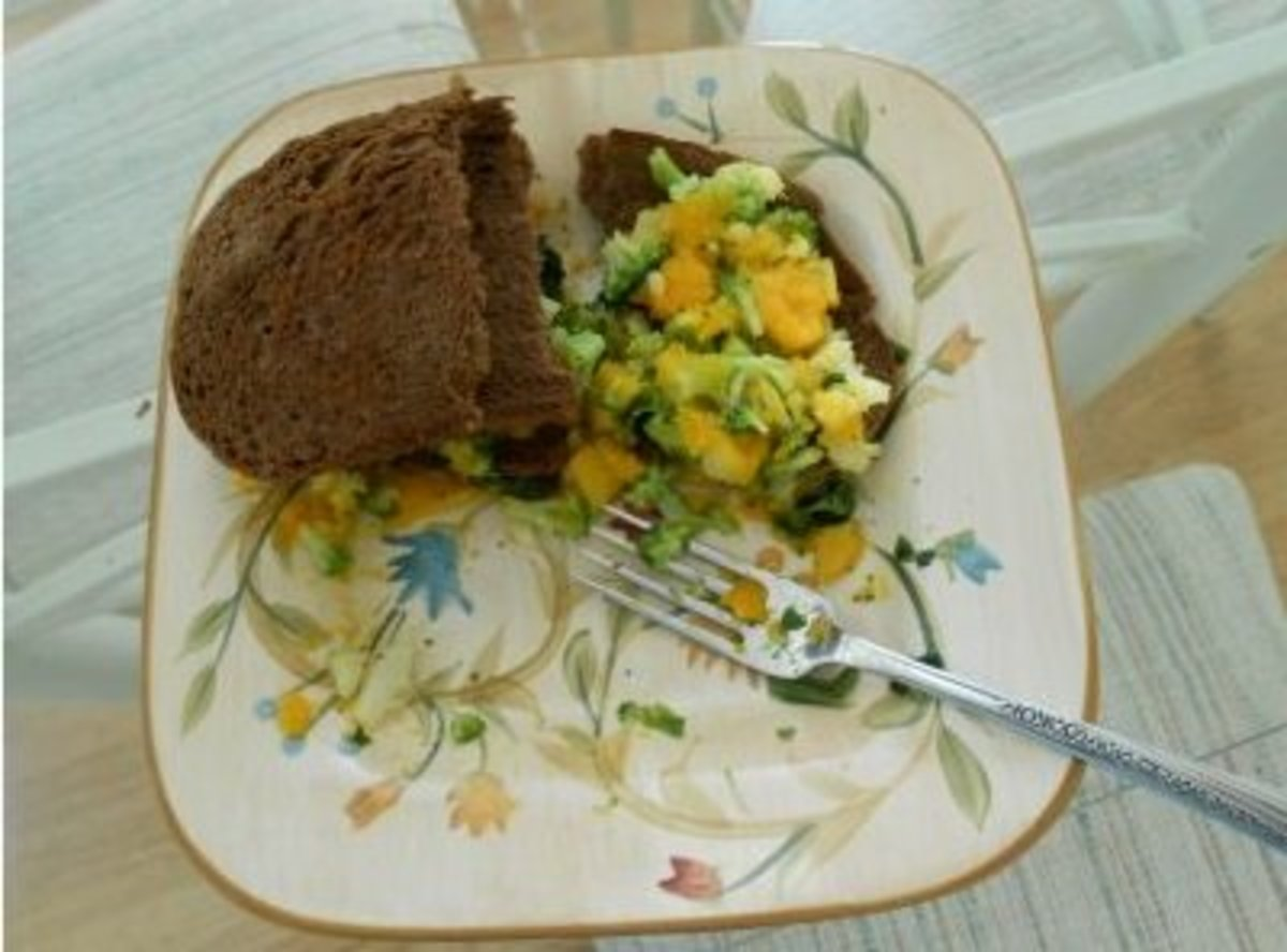 I mixed some of mine with vegetables and made a sandwich