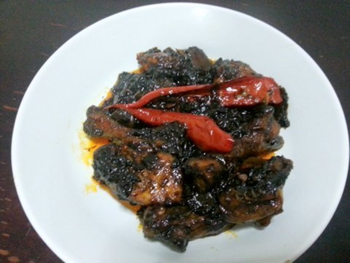 Ayam Masak Kicap Pedas or the Spicy Soy Sauce Chicken ready to be served with steam rice