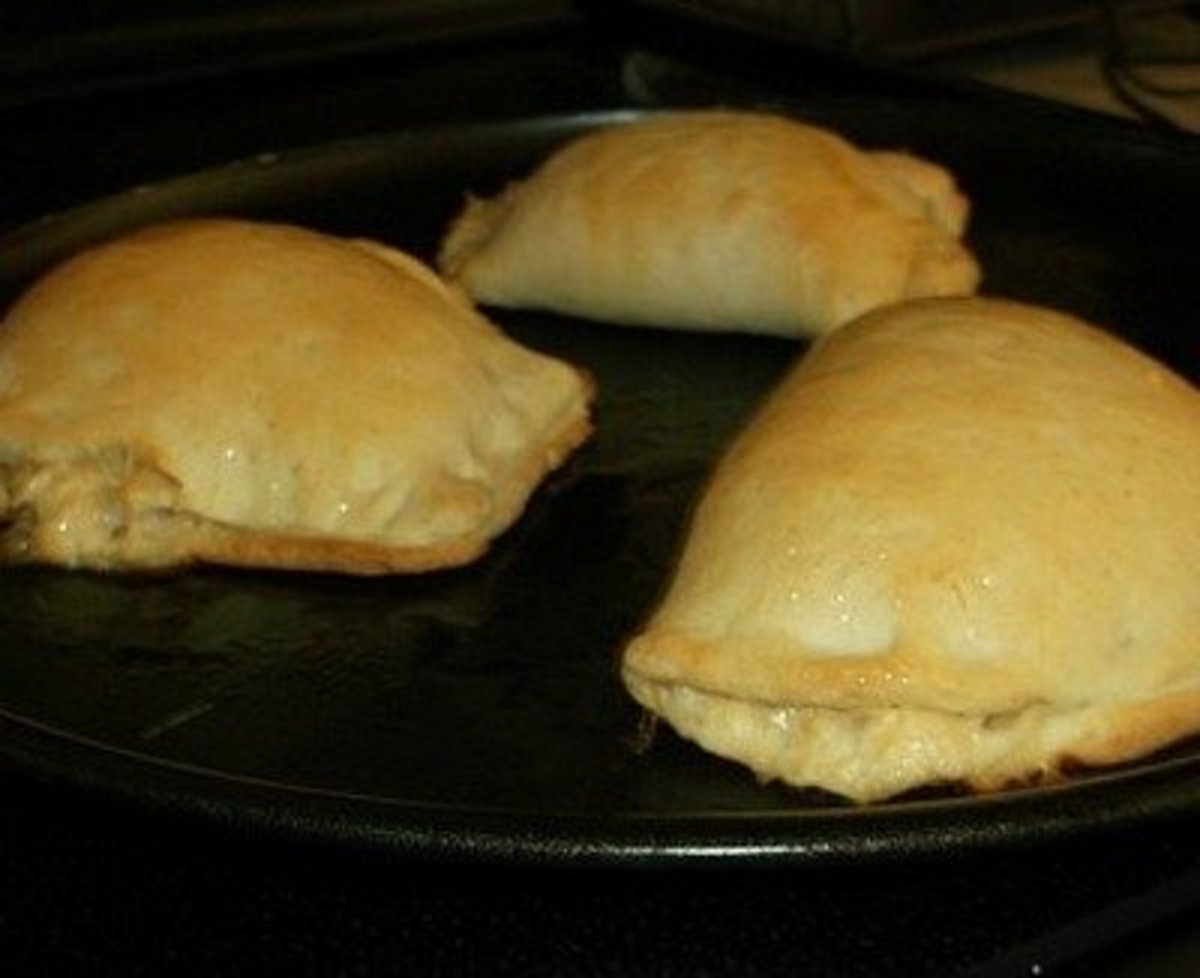 Meat pies made with Crazy Dough.