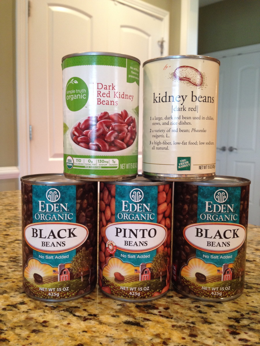 Show here are a variety of no-salt-added organic brands for beans. Choose any bean combo for this recipe.