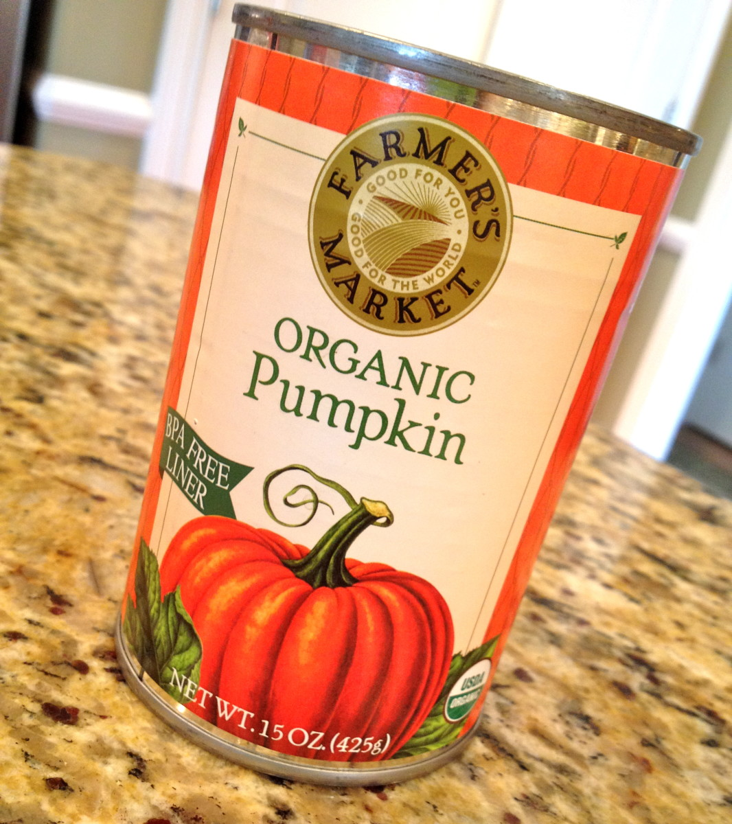 Organic pumpkin is affordable and doesn't include any nasty pesticide residues.
