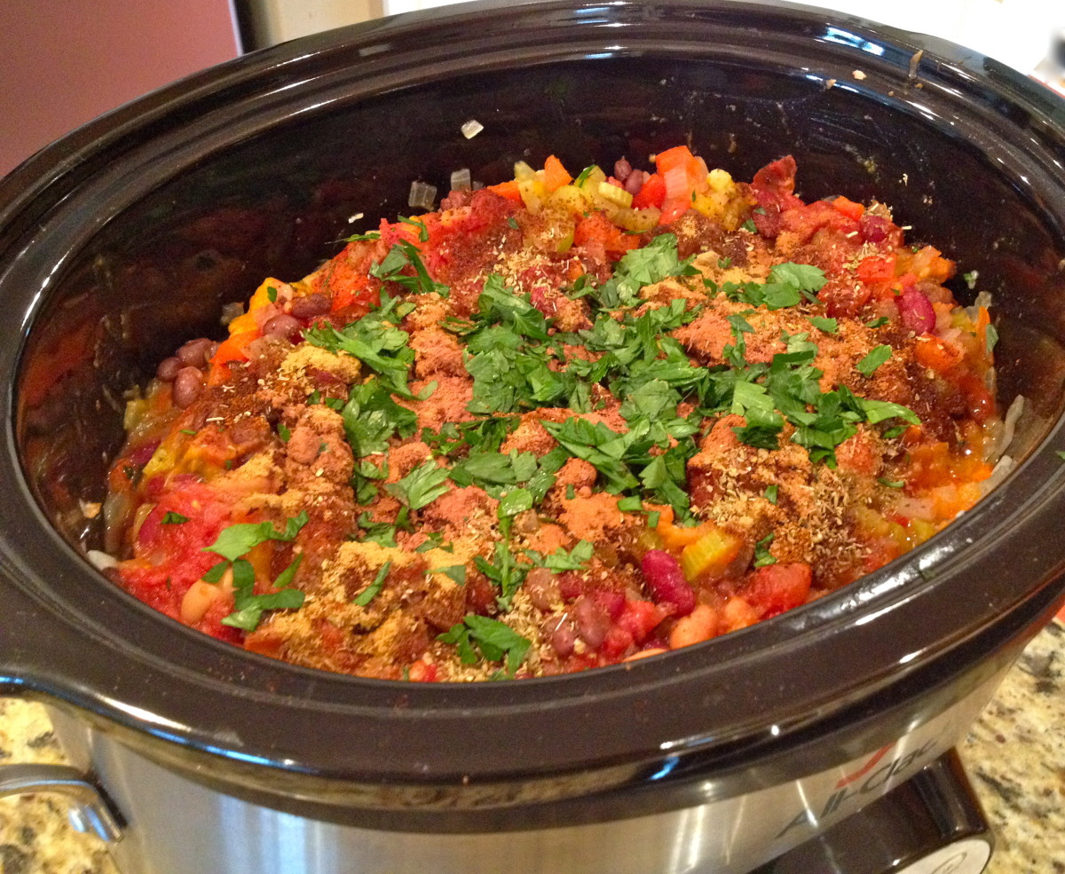 Combine all ingredients in your slow cooker. Stir before cooking.