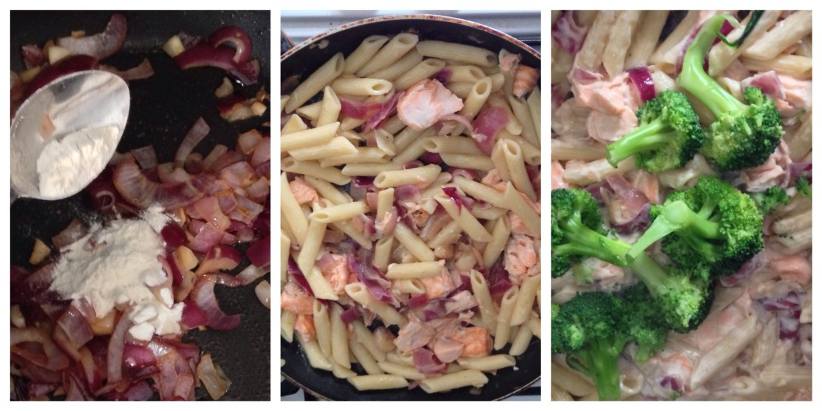 Salmon and Broccoli Pasta Method