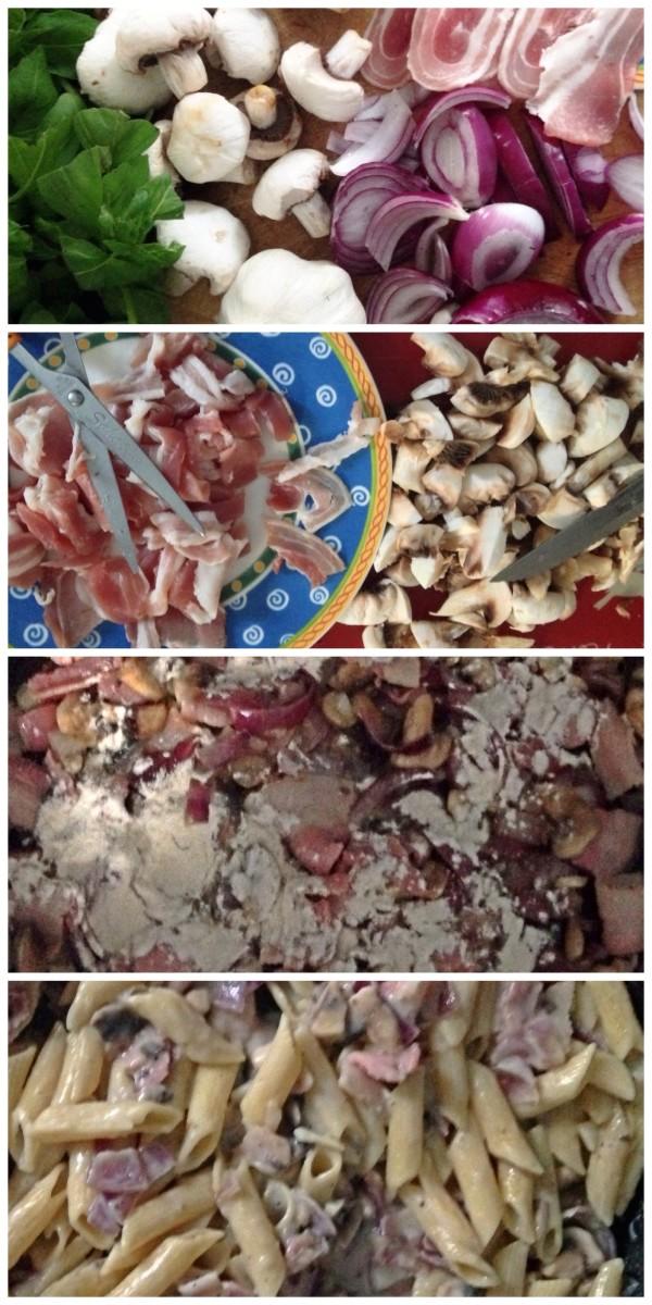 Bacon and Mushroom Pasta Recipe
