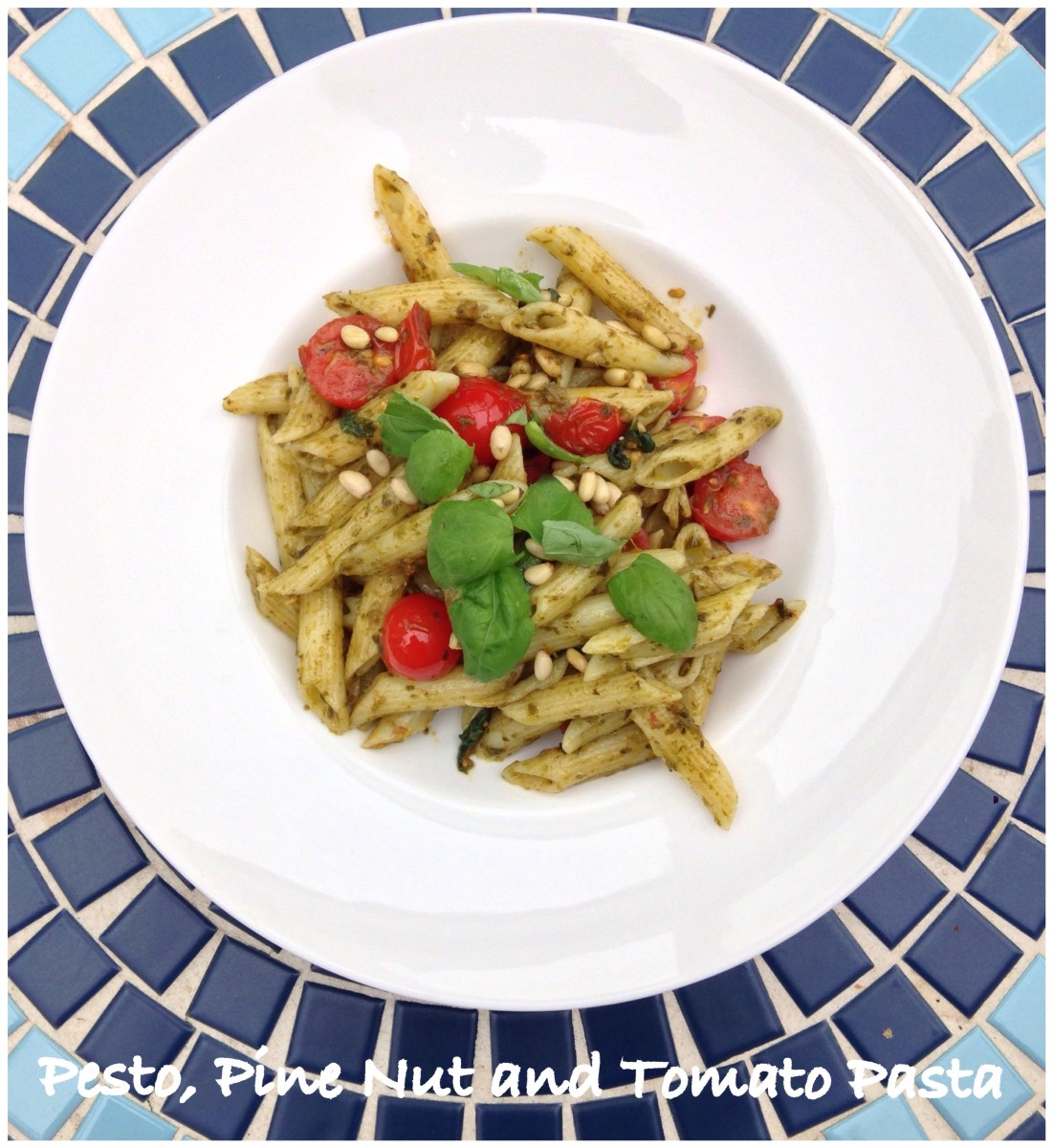Pesto, Pine Nuts and Tomato Pasta