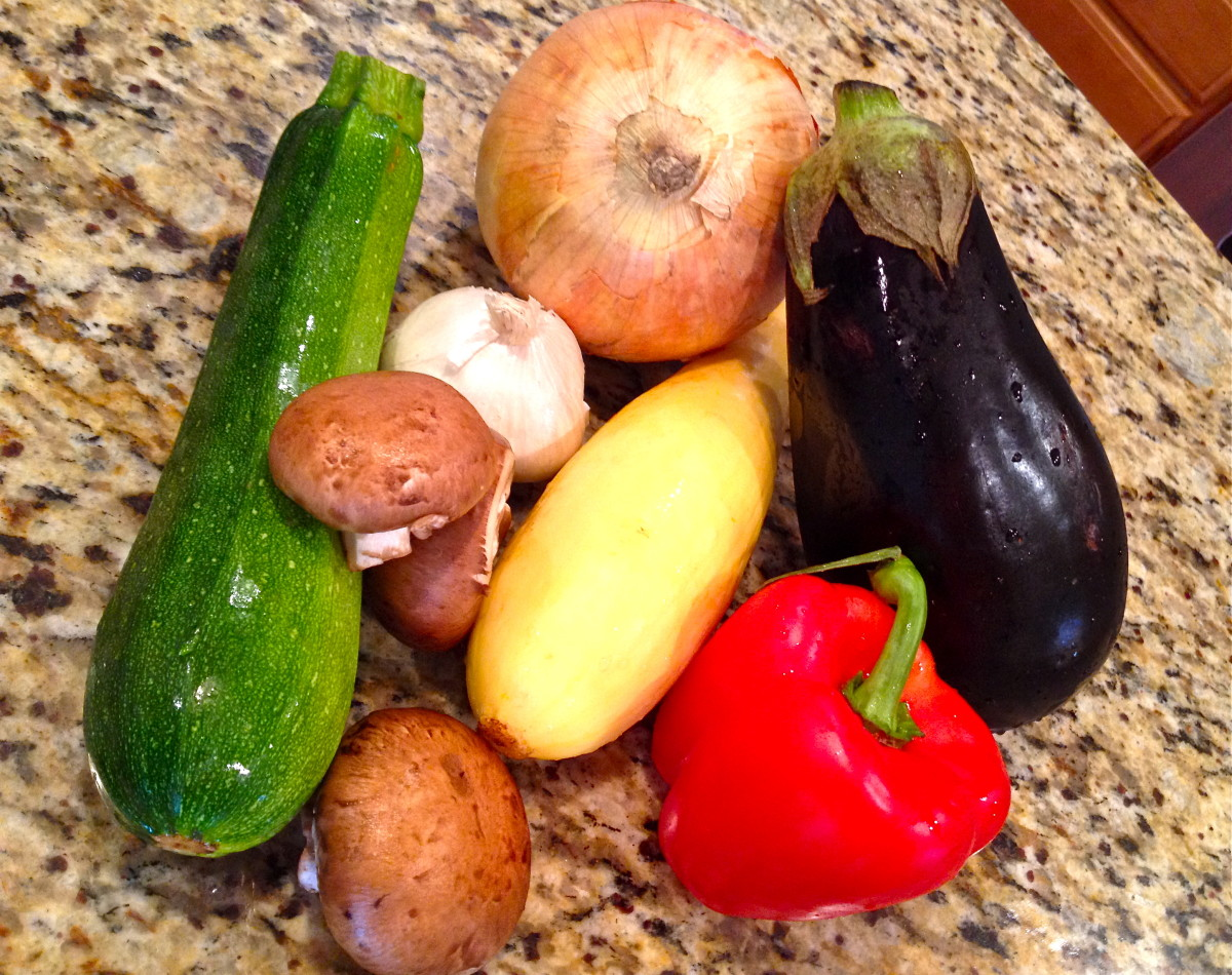 Choose a variety of vegetables for this dish. Pictured here are just a few suggestions.