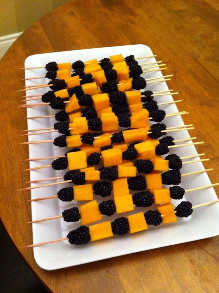 Blackberries and Cantaloupe