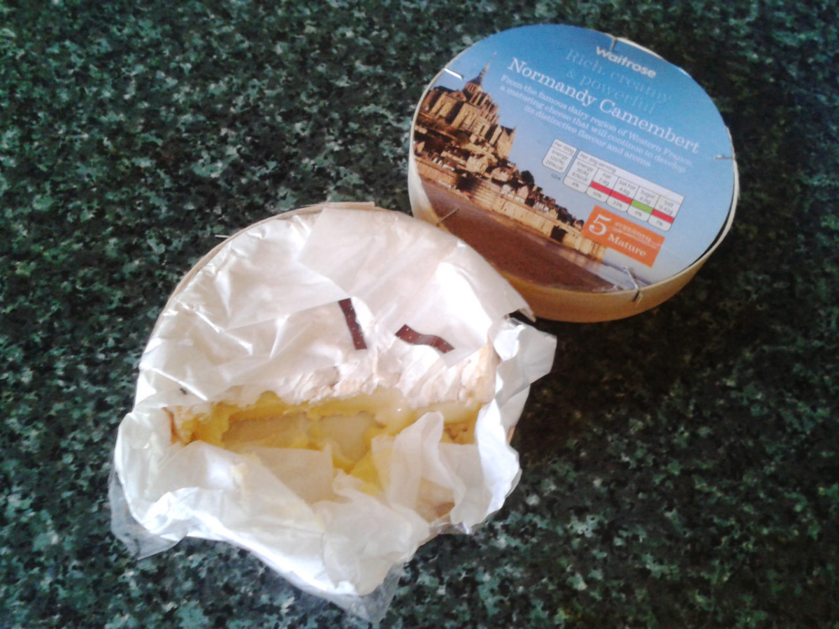 A lovely ripe French Camembert