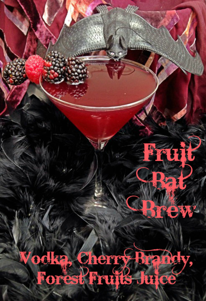 Fruit Bat Brew Halloween Cockail